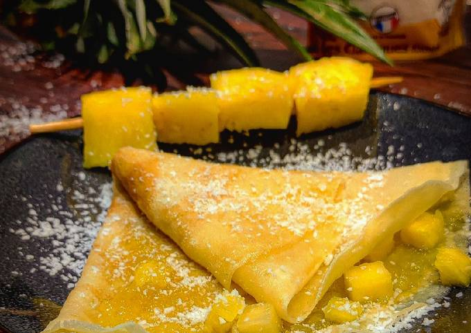 Crêpes coco-ananas