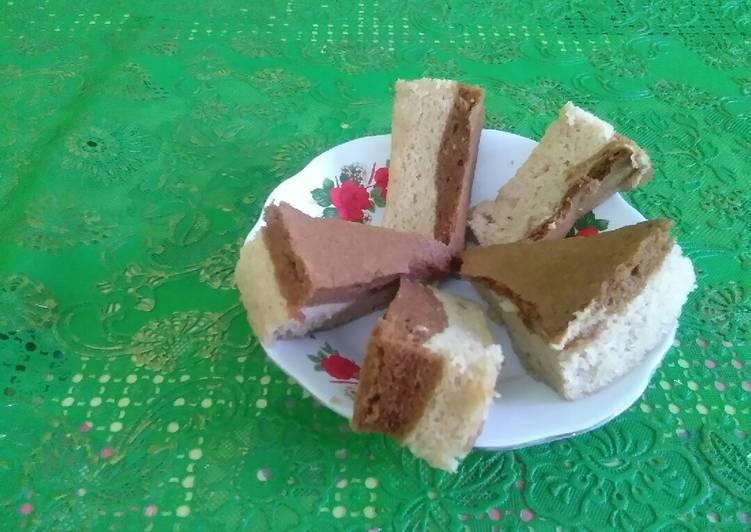 Cake coklat dancow tanpa pengembang dan oven