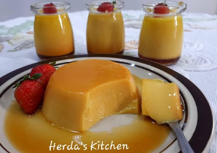 Pudding Caramel Lembut Alhamdulillah Berhasil