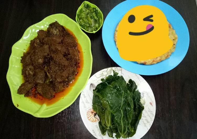 Rendang Sapi Empuk+sambal cabe ijo