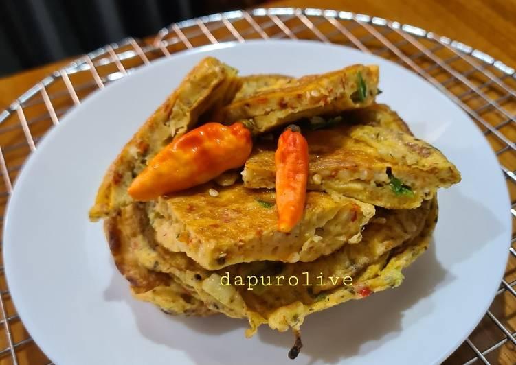 Telur Dadar ala Padang (Telur Bebek)