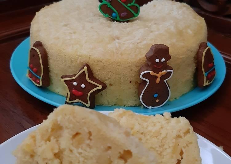 Bolu Nangka Kukus (Steamed Jackfruit Cake) - cookandrecipe.com