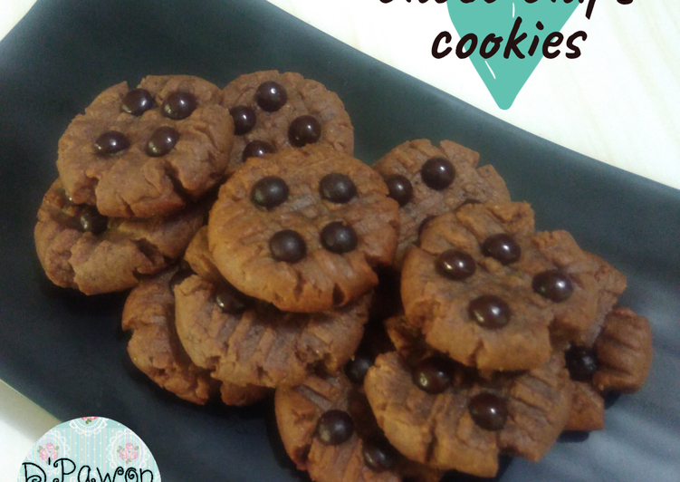 Choco chips cookies no oven, no mixer