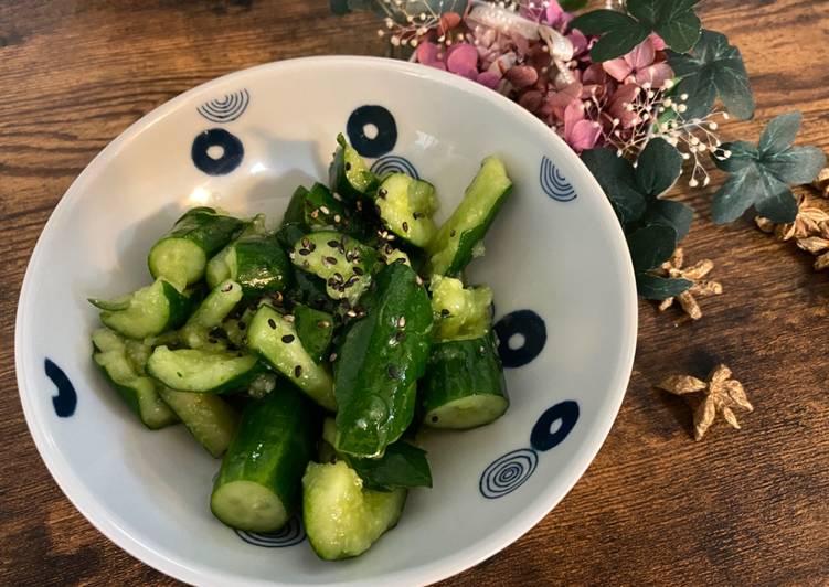 Easiest Way to Prepare Speedy Japanese Pub Menu: Cucumber Pickle