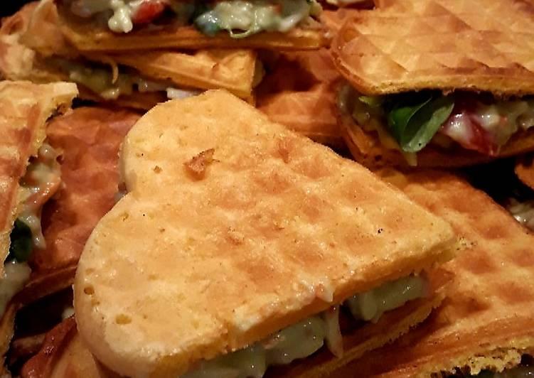 Gaufres salées façon club sandwich