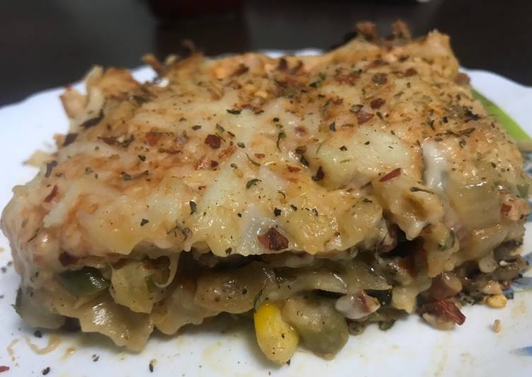 Recipe: Yummy Vegetable Lasagna