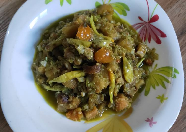Kikil sapi masak cabai hijau