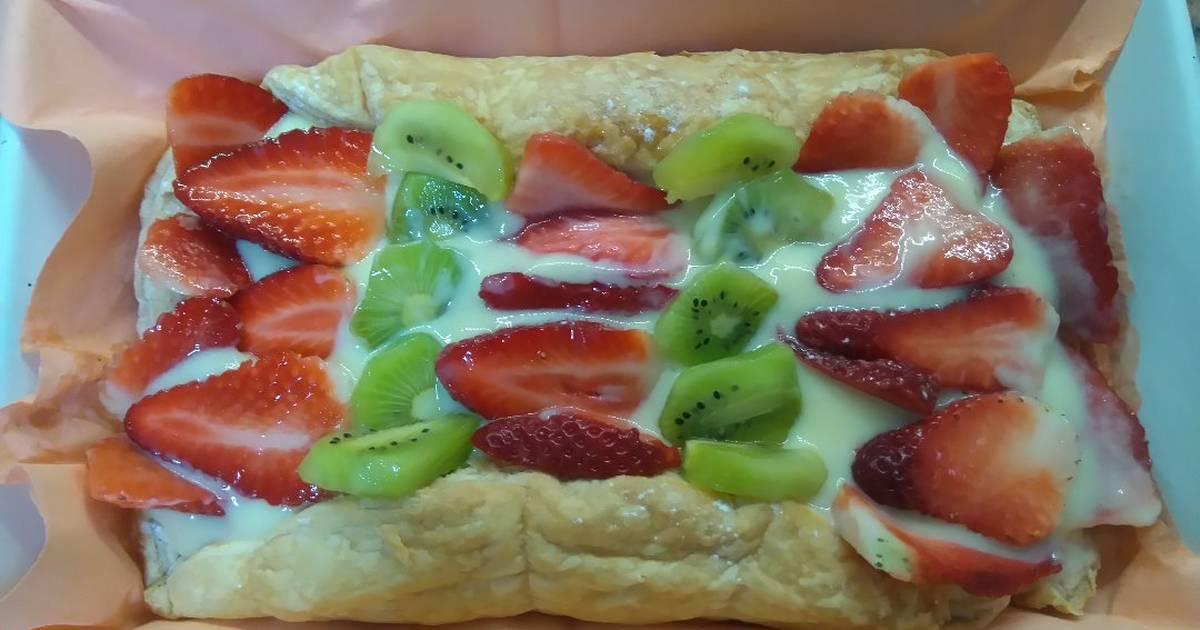 Tarta De Con Hojaldre Frutas Y Crema Pastelera Monsieur Cuisine Receta De Sara Piperno Barceló Cookpad