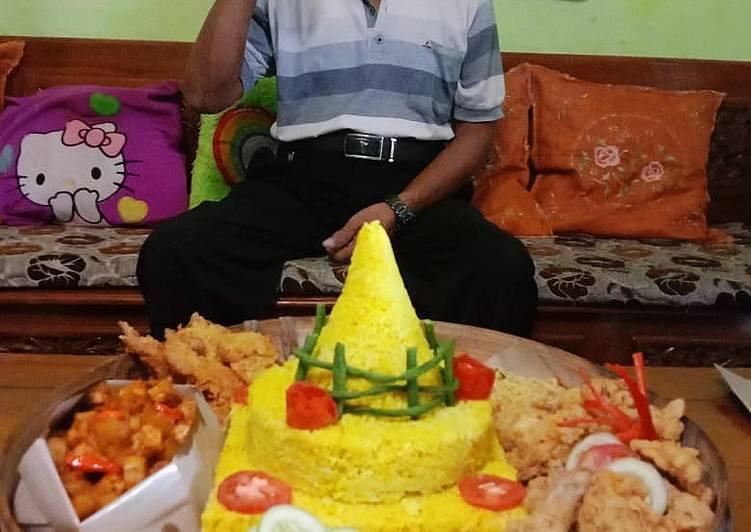 Nasi kuning magic com (rice cooker) mudah