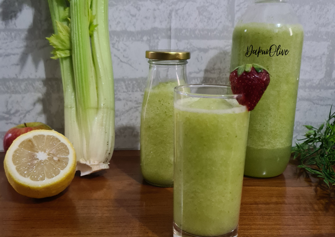 Jus Seledri Apel Jeruk (Healthy Snack or Drinks)