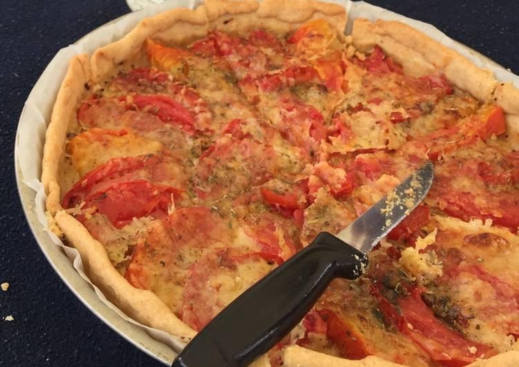 Tarte tomate, moutarde et brebis