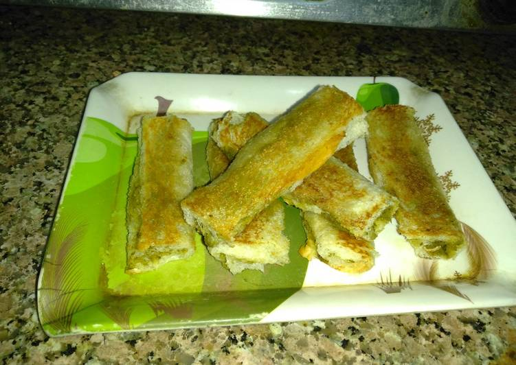 Recipe of Perfect Paneer bread roll