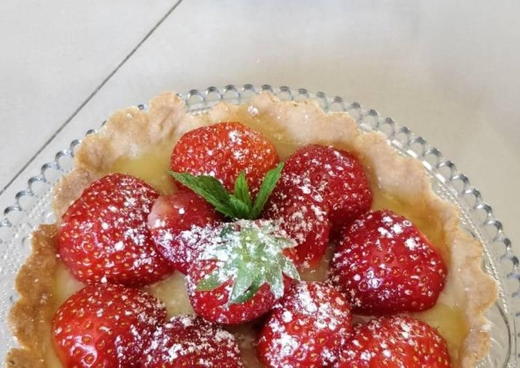 Recette: Tartelette aux fraises et crémeux citron