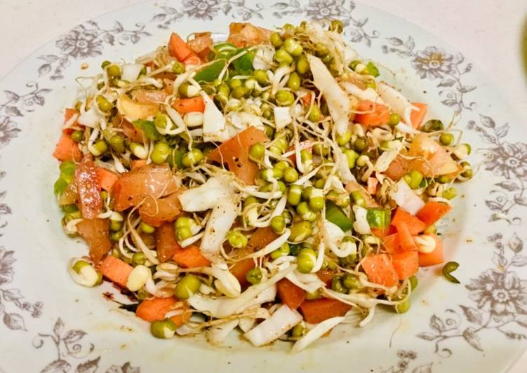 Recipe of Favorite Salad (sprouts salad)