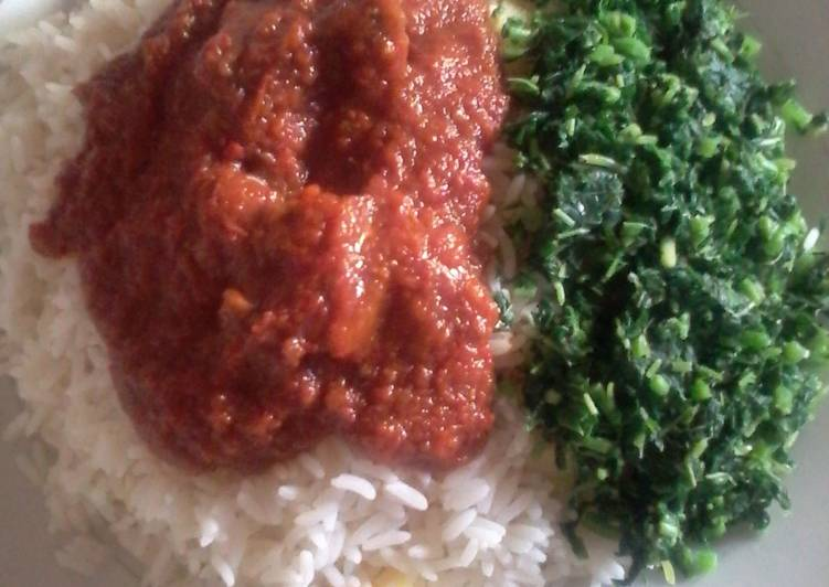 Recipe: Tasty White,irish potato,stew and spinach