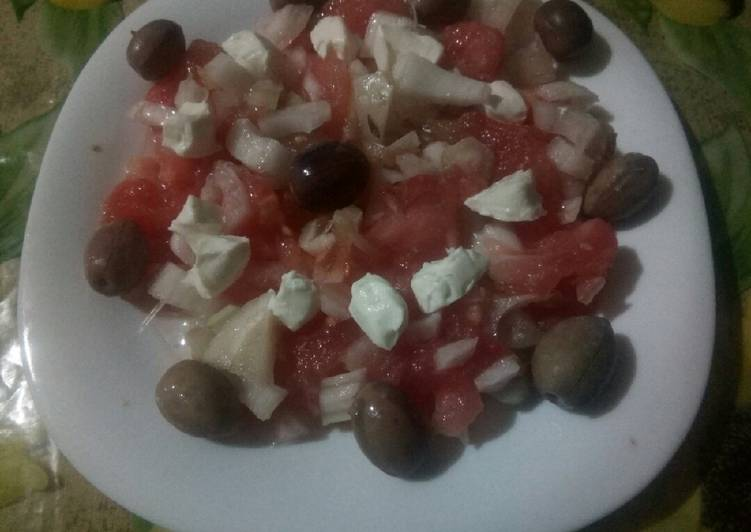 Salade fenouil / tomate / fromage