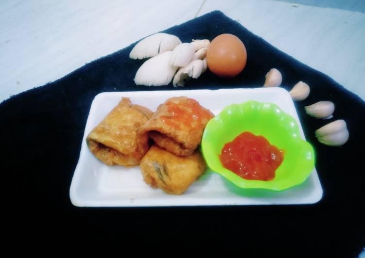Telur gulung isi ayam, jamur, dan wortel. Camilan bergizi anak😍