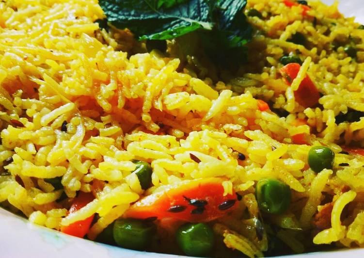 Best Comfort Dinner Easy Special Vegetable Mint Pulao