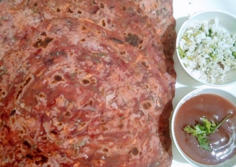 Step-by-Step Guide to Make Homemade Beetroot cabbage paratha