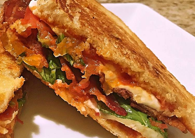 Caprese bacon melt