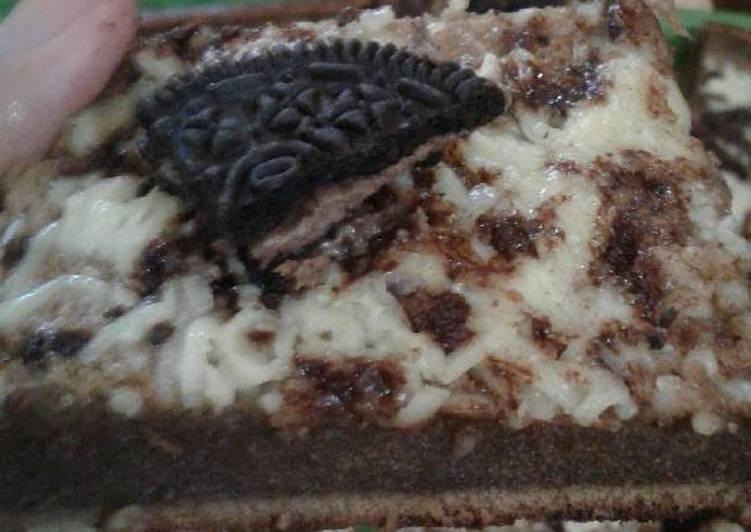 Brownies milo toping keju lumer oreo