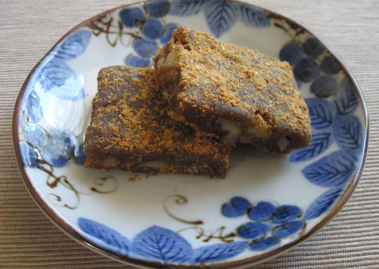 Recipe of Award-winning Muscovado & Walnut Mochi
