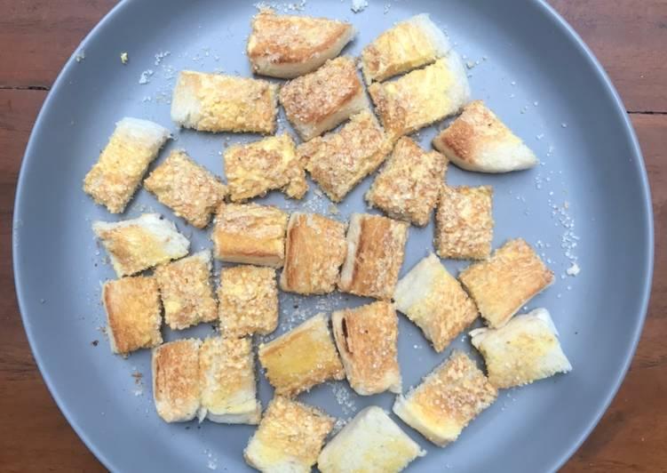 Makanan Anak Roti Panggang Gula-Gula