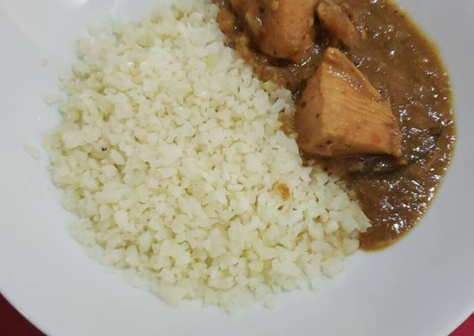 Recipe: Yummy Slow cooked Authentic Andhra Curry & cauliflower rice(keto)