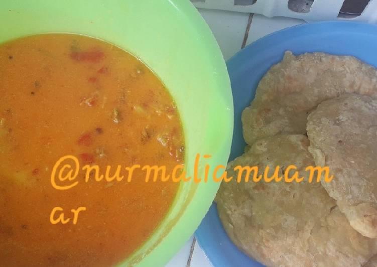 Parata dan kari kambing milk homemade simple endesss