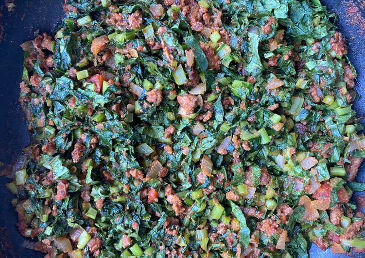 Easiest Way to Make Any-night-of-the-week My minced beef and kale relish