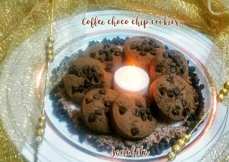 Coffee choco chip cookies