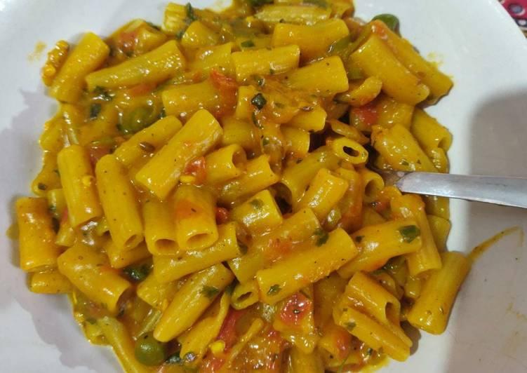 Indian sauce pasta