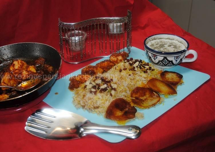 Simple Way to Make Speedy Tabrizi advieh polow (pilaf)