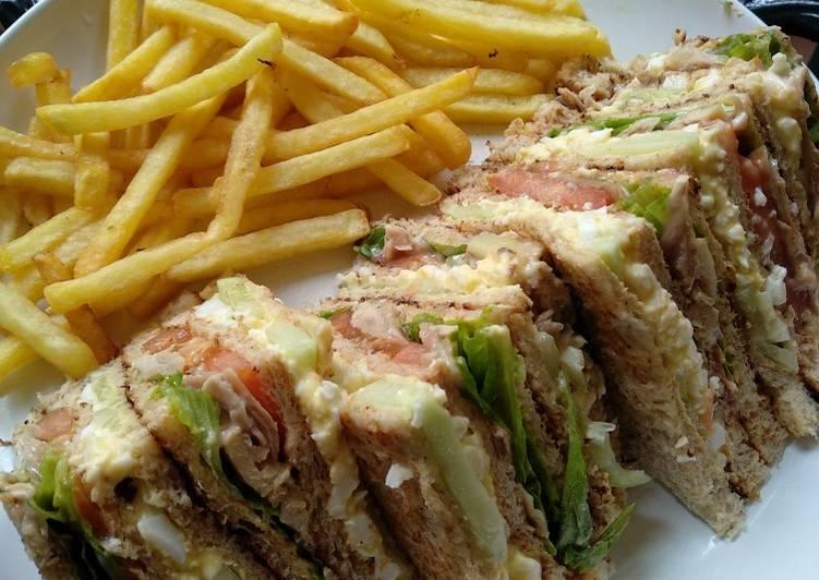 Resep Club Sandwich ala KLIA Paling Gampang