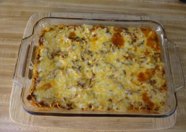 How to Prepare Tasty Maw Maws Spaghetti Pie Casserole