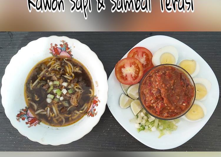 Rawon nikmat mantap anti ribet (sambal terasi)