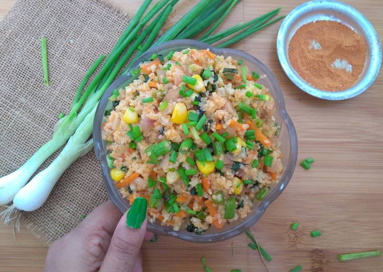 "Cracked Wheat Fried ""Rice"""