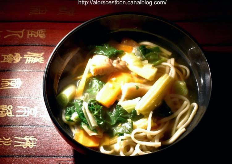 Comment Préparer Les Soupe aux nouilles et aux légumes