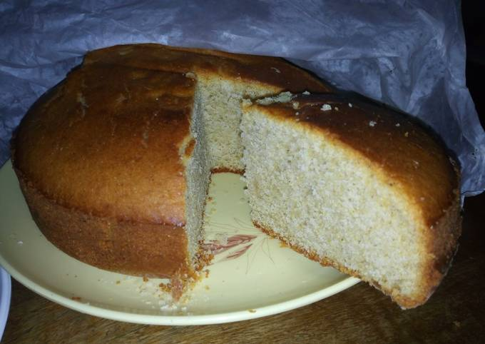 Ugali keki (corn flour cake)