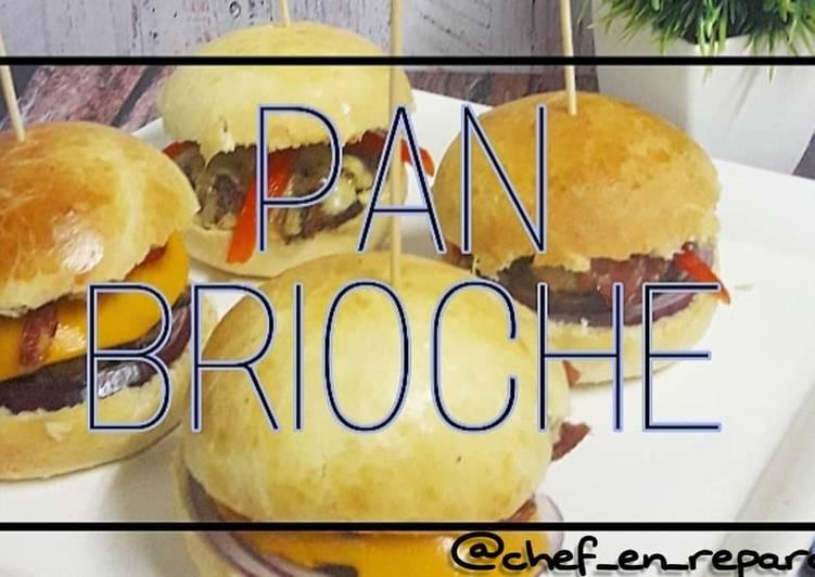 Pan brioche (para hacer tus hamburguesas unícas)