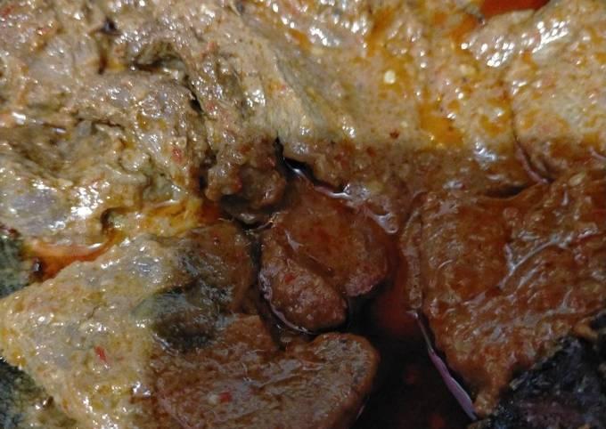 Rendang daging alakadarnya