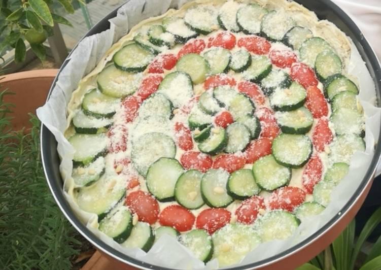 La Recette Pas à Pas Tarte courgette tomate