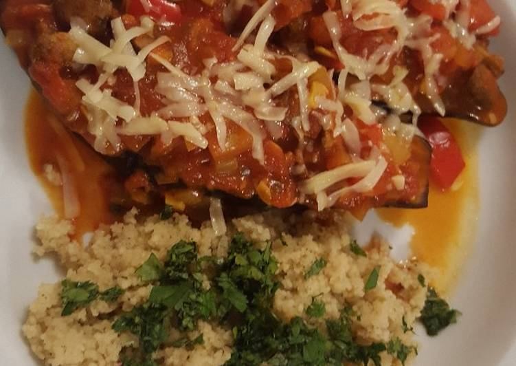 How to Prepare Ultimate Baked aubergine and couscous