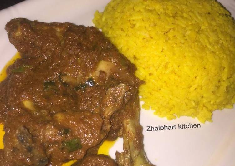 Carrot and turmeric rice