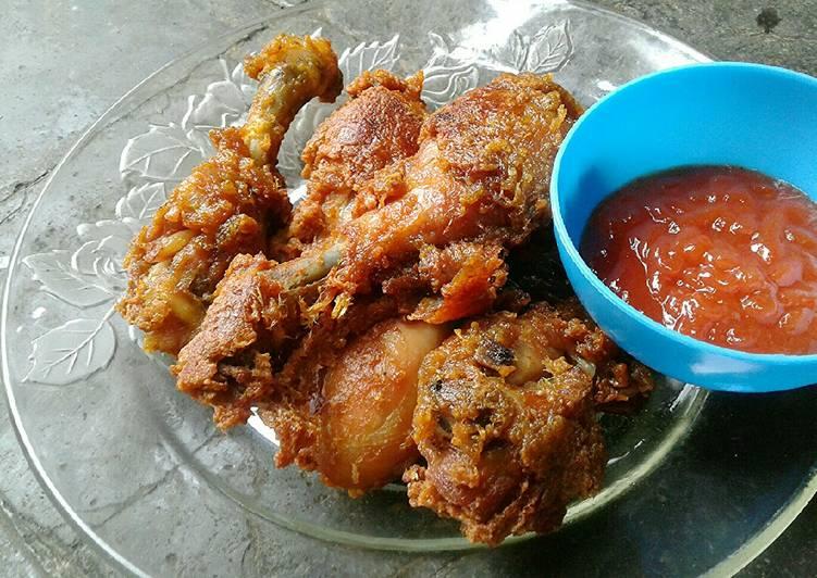 Cara Menyajikan Resep Mantab Dari Paha Ayam Goreng Renyah Enak