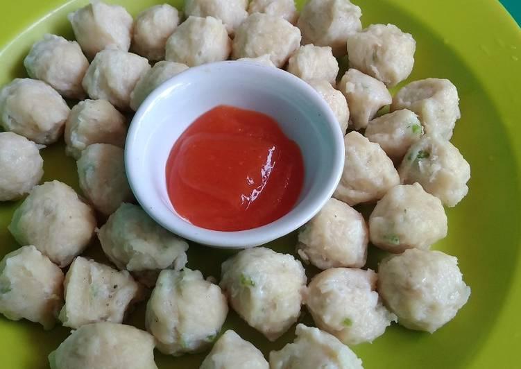 Bakso Ayam Kenyal Tanpa Baking Powder