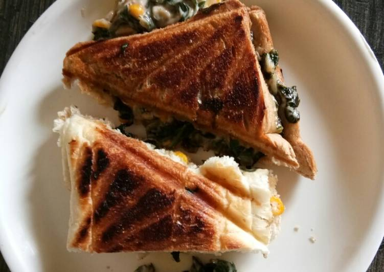 Turn to Food to Elevate Your Mood Spinach Corn Sandwich