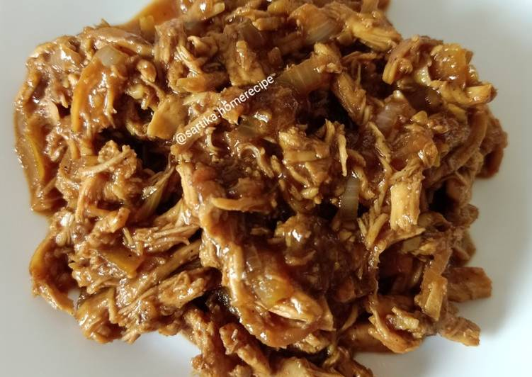 Resep Ayam suwir gurih (untuk isian Pao, roti goreng, donat dll) Bikin Jadi Laper