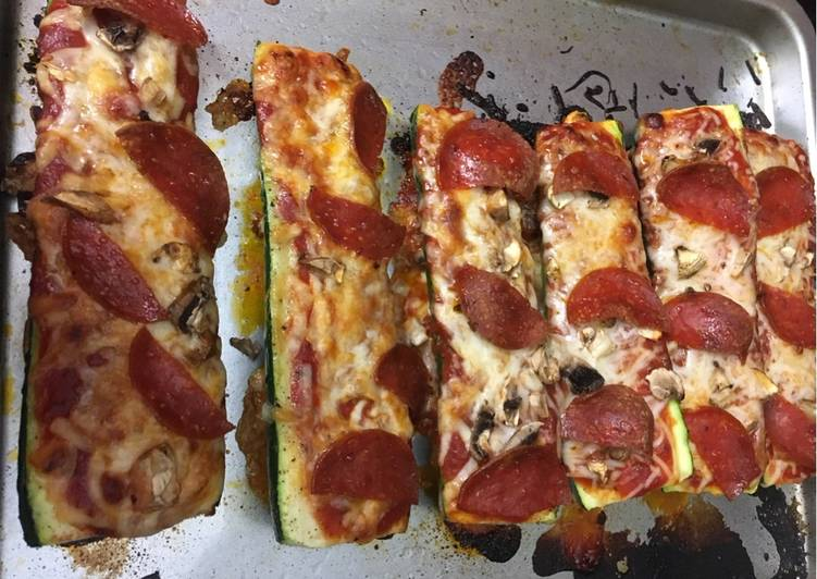 Recipe: Yummy Zucchini Pizza Boats