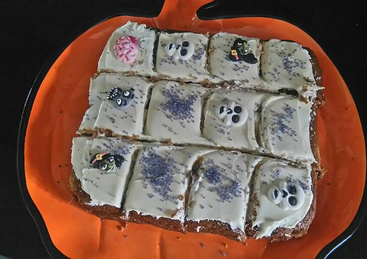 Halloween Frosted Pumpkin Squares